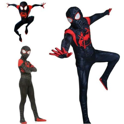Miles Morales Spider-Man:Into Spider-Verse Kids Suit Cool