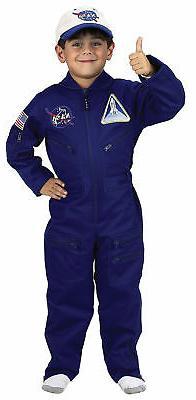 NASA Flight Suit Child Costume Aviation Pilot Career Boys Ae