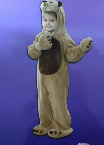 New Just Pretend Kid's Bear Animal Halloween Costume Unisex