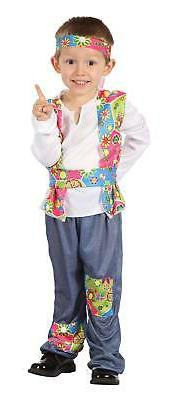 Bristol Novelty - New Kids Boys Hippie Costume Fancy Dress W