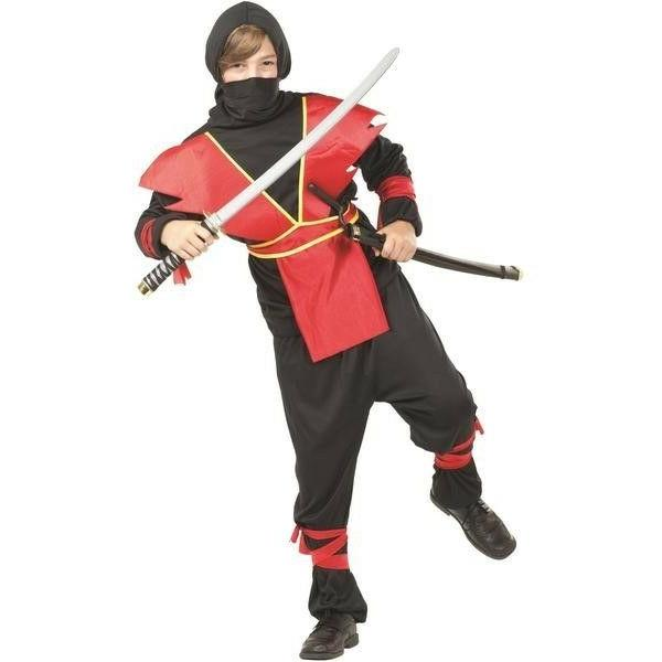 Ninja Master Child Halloween Costume - Child Small  - Red