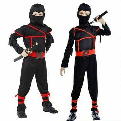 Ninja Ninjago Costume Boys Cosplay Carnival Party Ninja