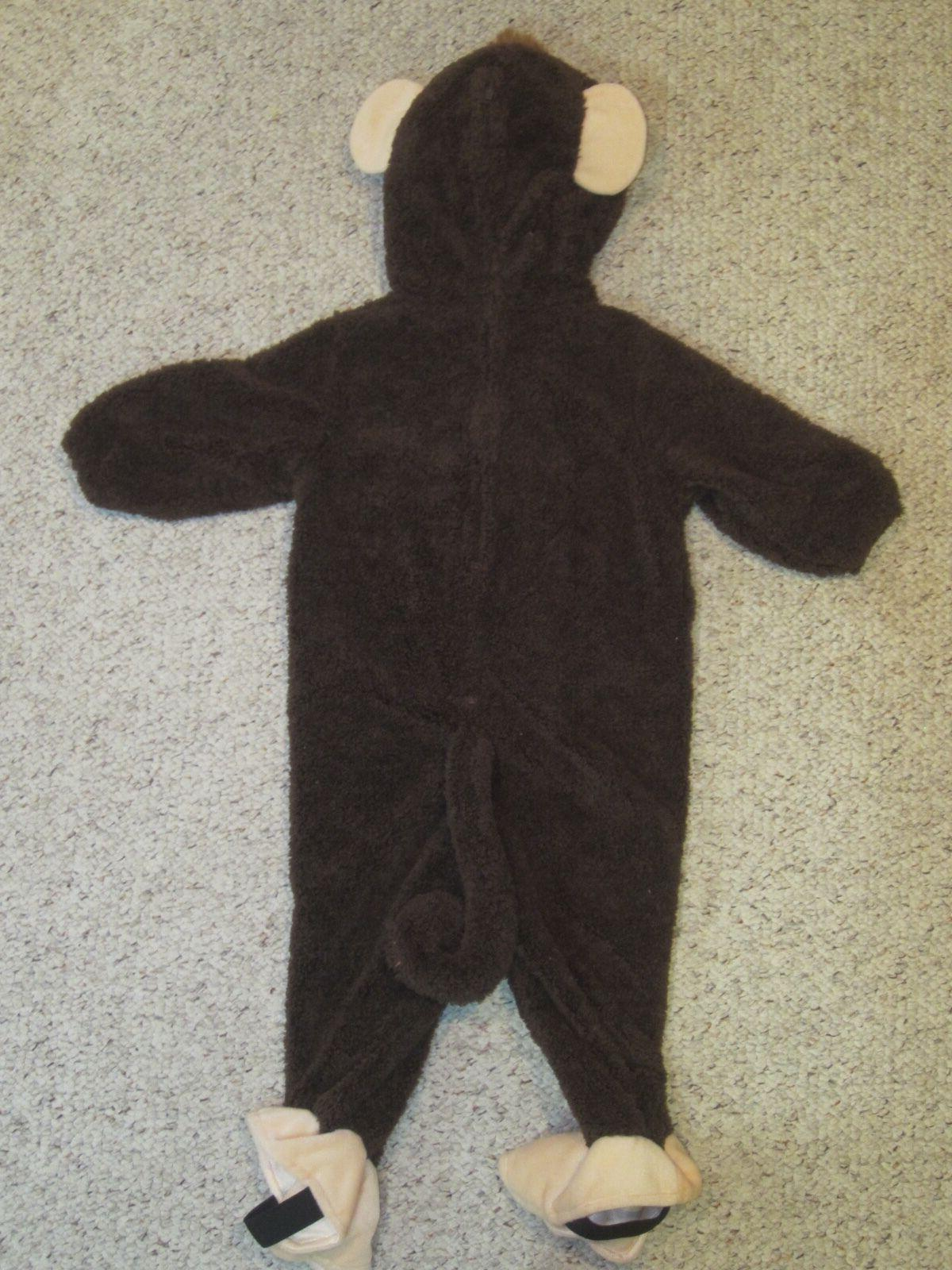 NWT Kids Brown Monkey Halloween Costume Outfit Infant Baby