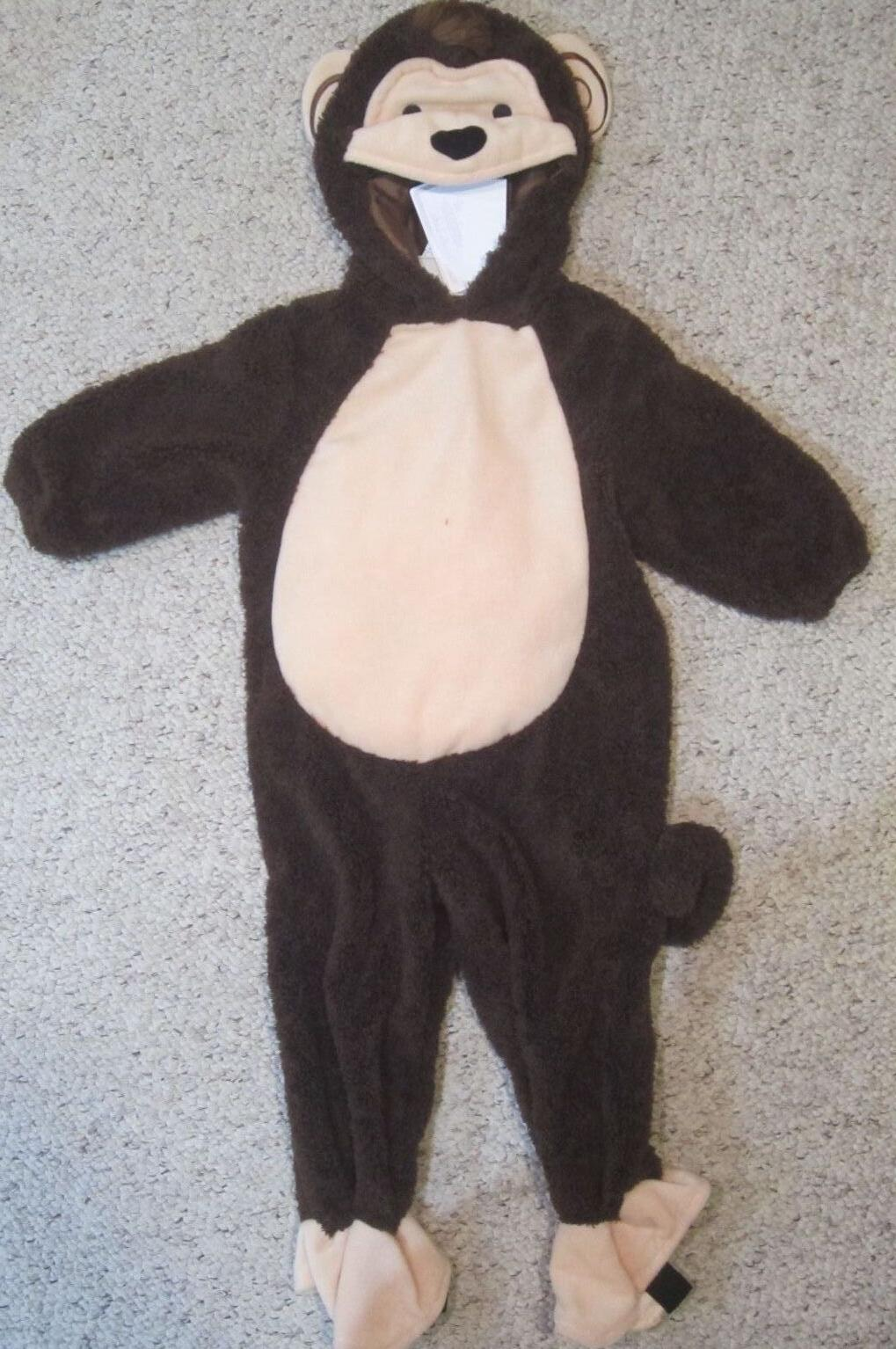 nwt brown monkey halloween costume outfit infant