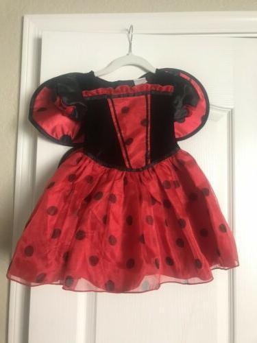 nwt ladybug costume dress up 18 24