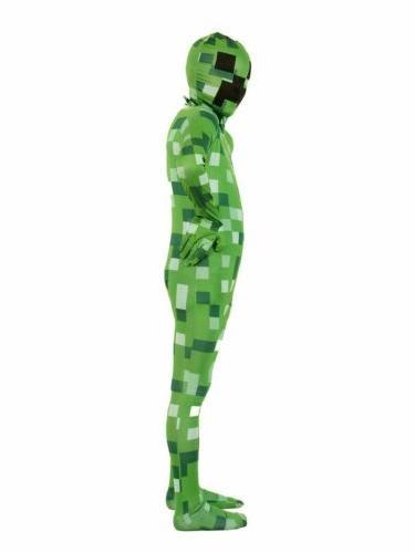 Pixelated Green Monster Kids Morphsuit Costume