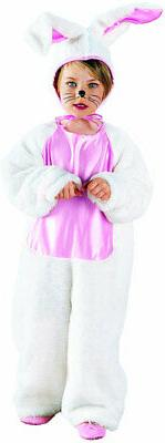 Plush Bunny Jumpsuit Headpiece Animals Nature Toddler Child