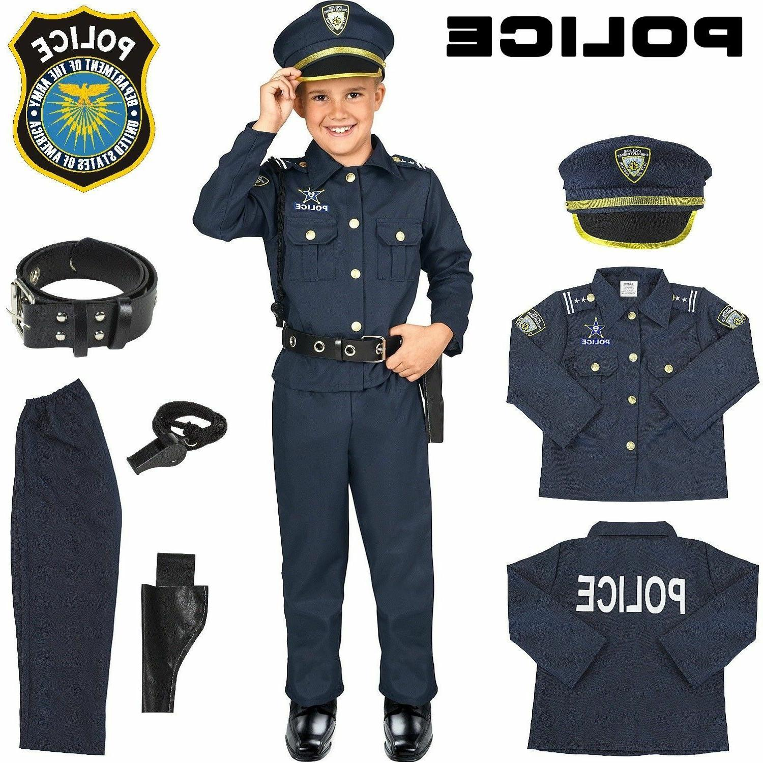 police officer costume kids halloween cosplay boys