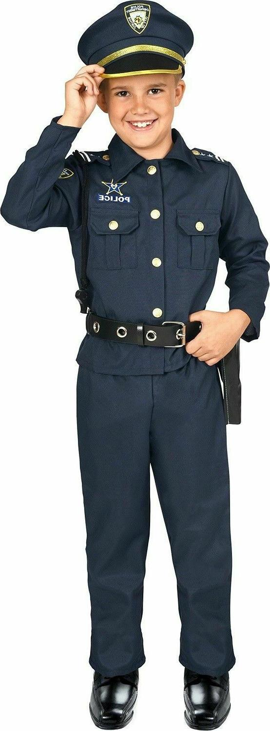 Police Officer Kids Costume Halloween Outfit for