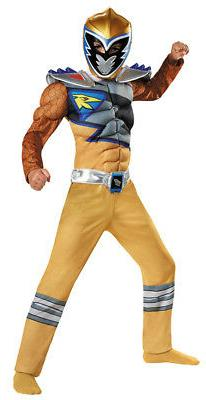 Power Rangers Dino Charge Gold Ranger Classic Muscle Child C