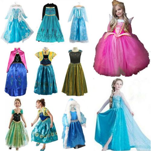 Girls' Clothing Princess Cinderella Kids Dress Up