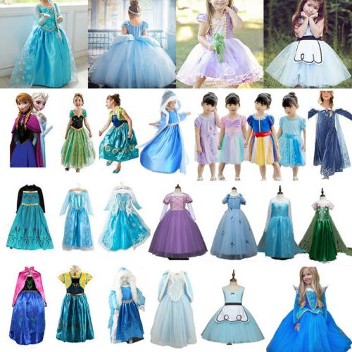 Girls' Clothing Princess Cinderella Kids Costume Party Dress Up