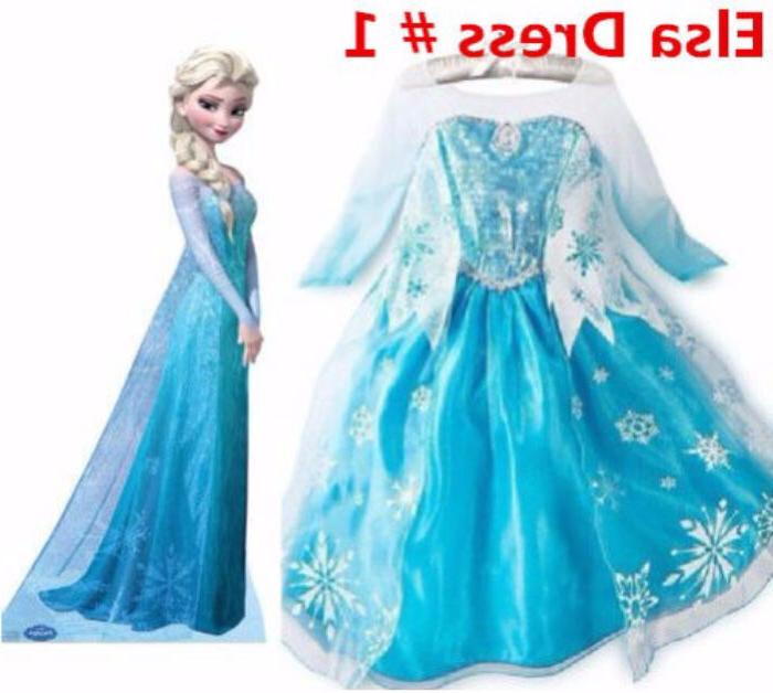Princess Role Cosplay Dress 2-10 Y
