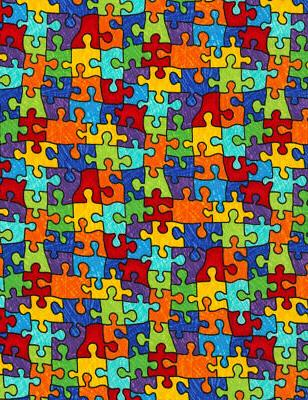 Puzzle Fabric, the Yard, Timeless Treasures,