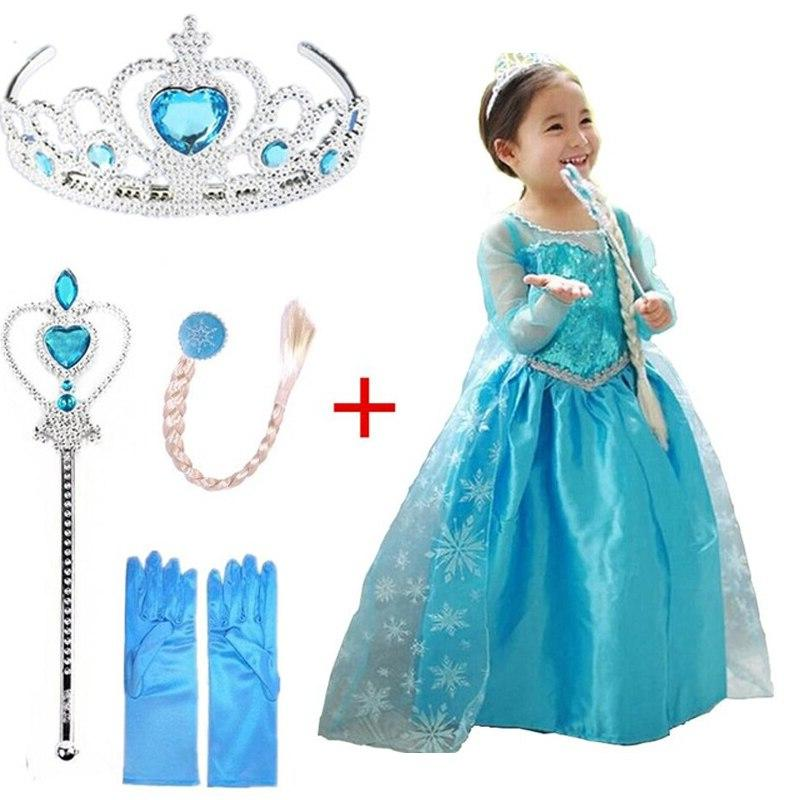 Snow Queen Elsa Dresses Princess Anna Elsa Dress For Girls E