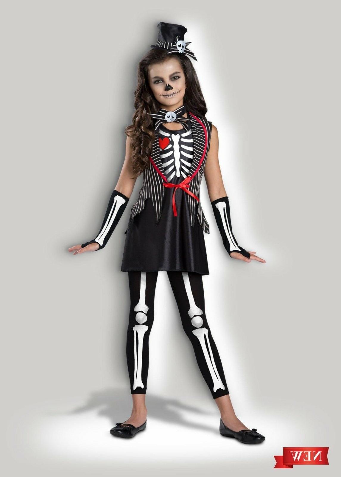 InCharacter Skeleton Cutie Bones Goth Childrens Girls Hallow