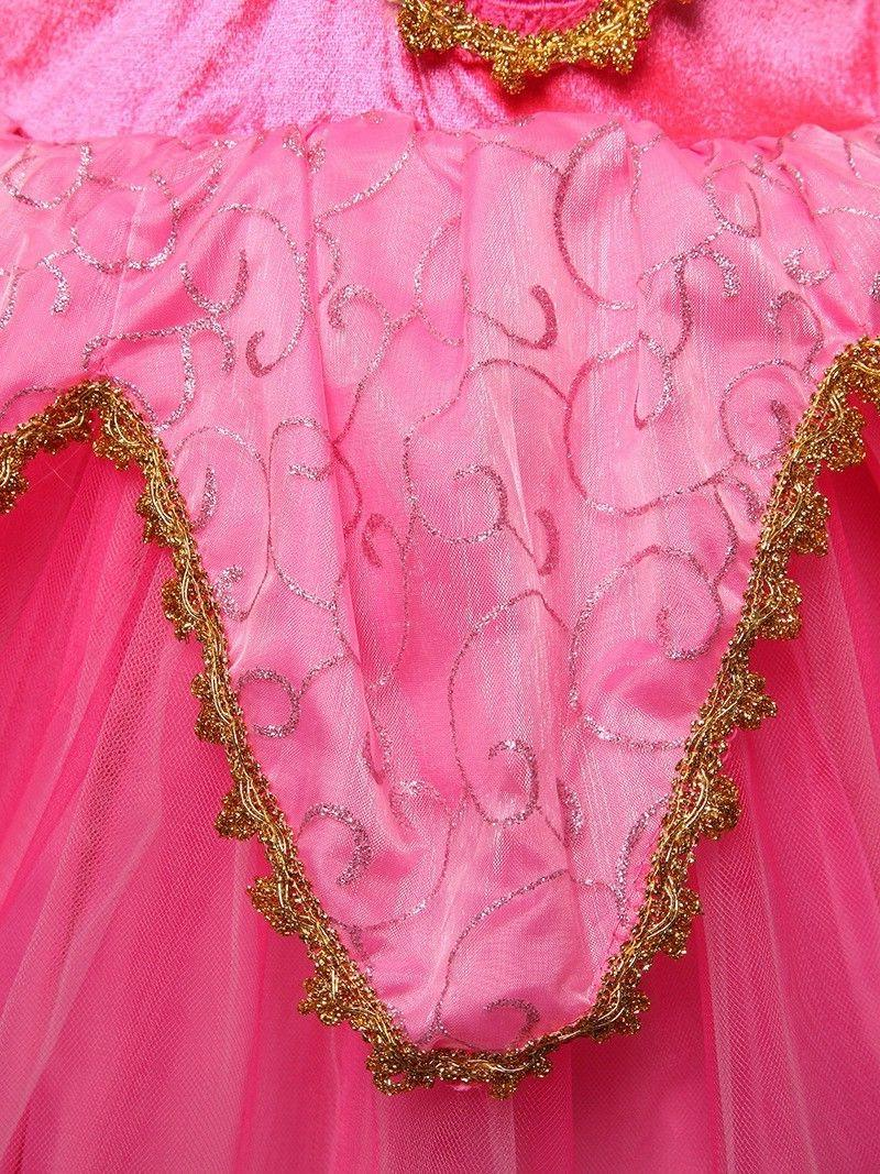 Sleeping Beauty Princess Aurora Party Dress kids Costume Dress for