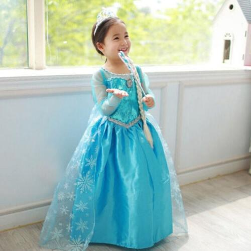 Princess Fancy Costume Girls Kid Cosplay Outfit