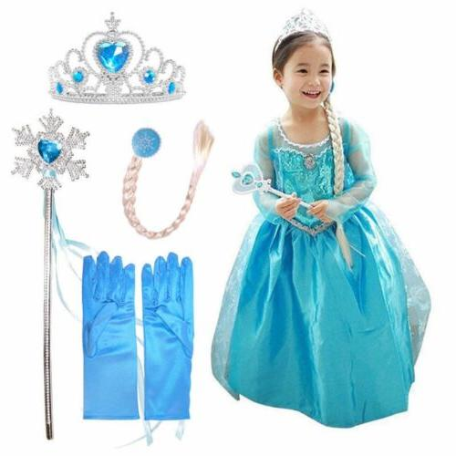 snow queen elsa anna princess dress fancy
