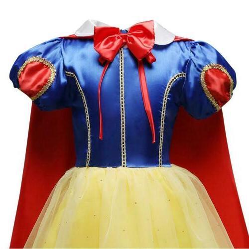Snow Costume Princess Dress Kids Party