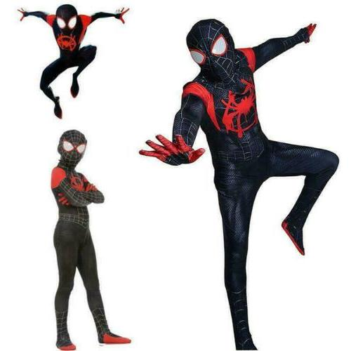 Spider-Man: Into Morales Costume Cosplay Suit Spider-Verse Kids