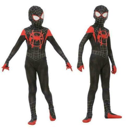 Spider-Man: the Morales Costume Zentai Suit Spider-Verse