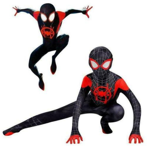 Spider-Man: Into the Miles Morales Costume Cosplay Zentai Su