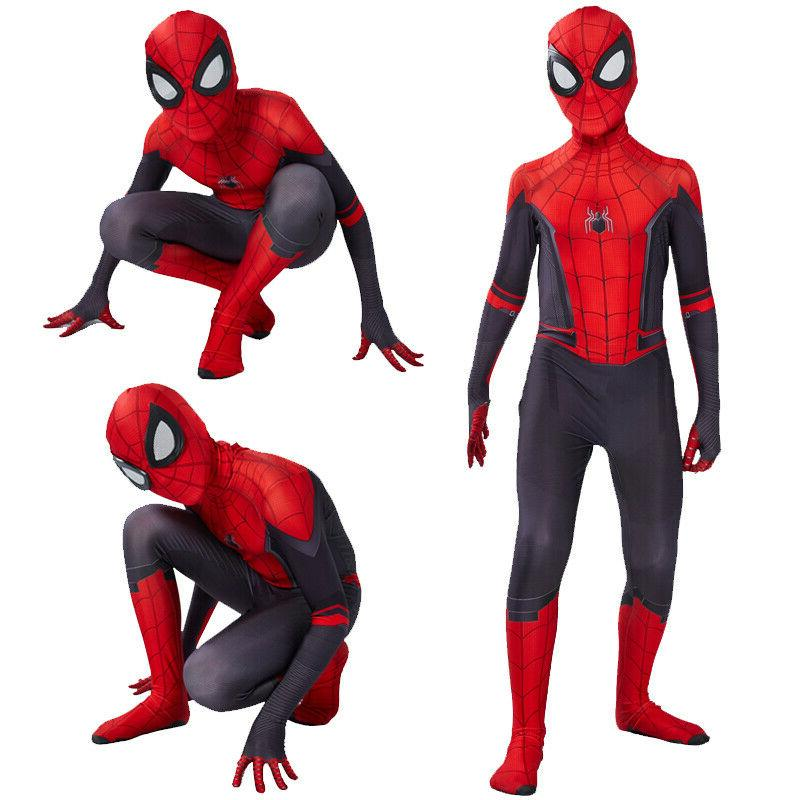 New Spider-Man Home Kids Boys Spiderman Zentai Cosplay USA