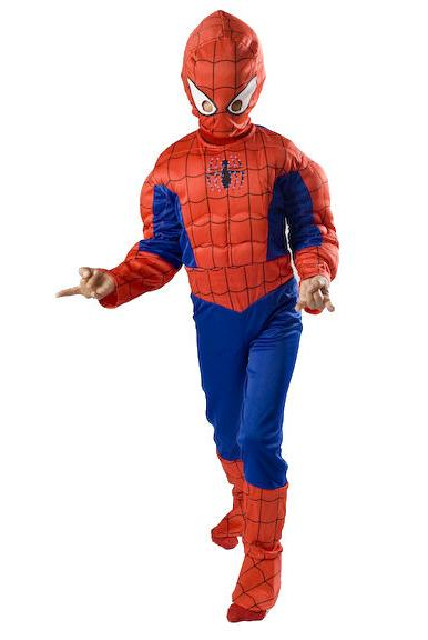 Spiderman Light up Muscle Costume boys kids Halloween   Smal