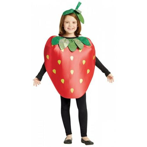 strawberry costume kids halloween fancy dress
