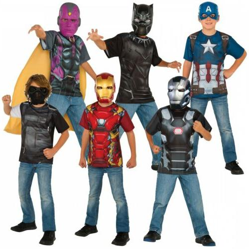 superhero costumes kids marvel t shirt halloween
