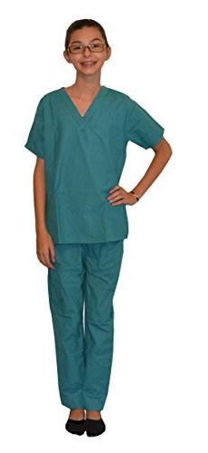My Little Doc Teal Green Kids Scrubs