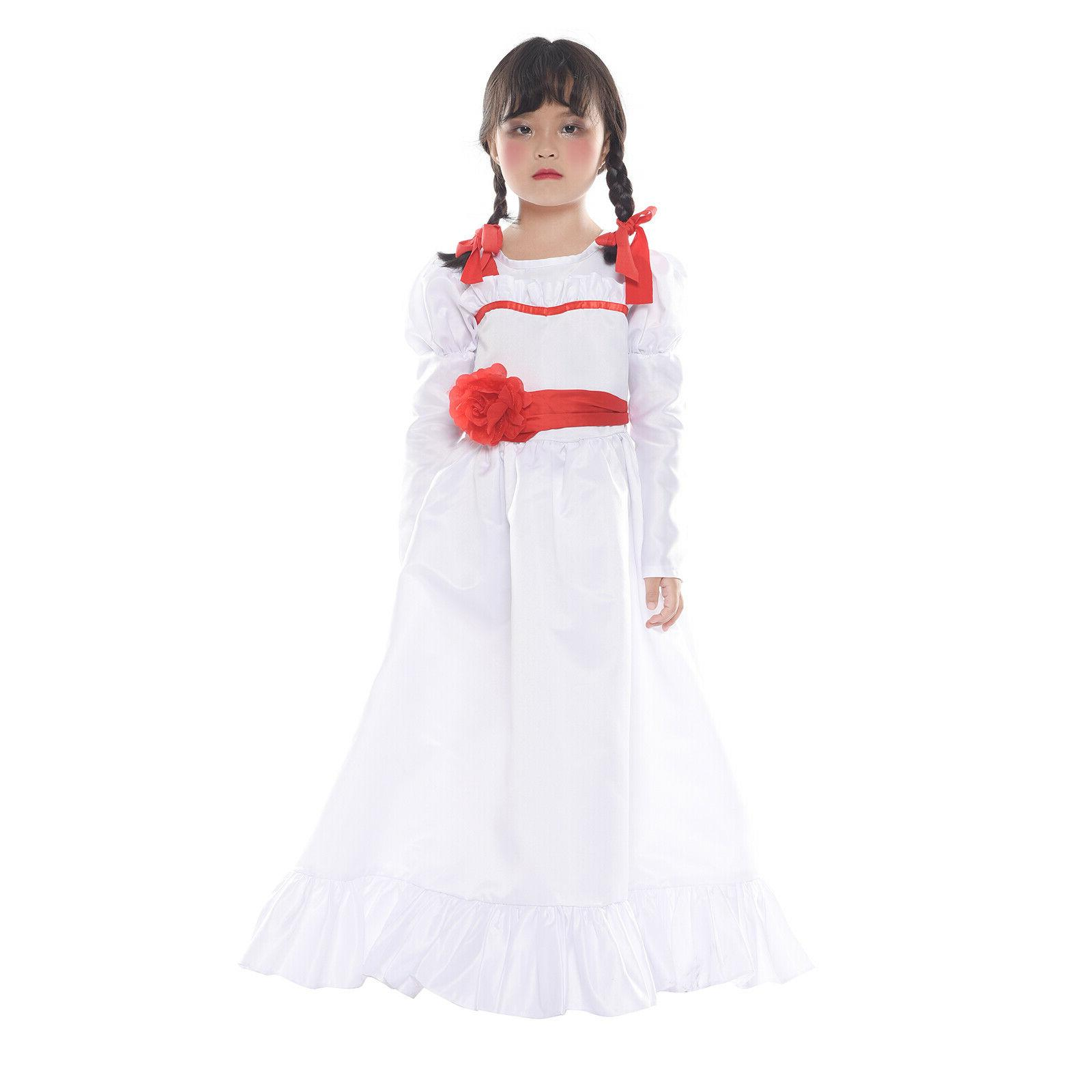 The Annabelle Costume Adult Long White Dress