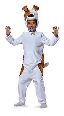 The Secret Life of Pets Deluxe Max Child Costume, White/Brow