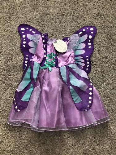 NEW Baby & Toddler Koala Kids Purple Butterfly Costume Dress
