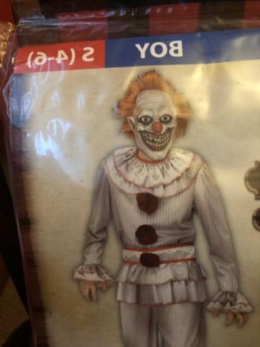 Fun World Twisted Clown Boy Kids Medium Halloween Child Cost