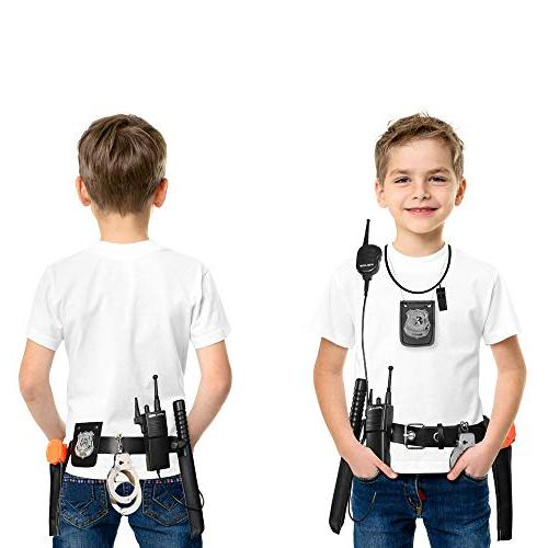 Ultimate All-In-One Police Accessory Role Play Kids Includes Gun, handcuffs, police and More, For