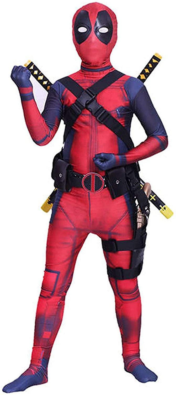Koveinc Unisex Lycra Superhero Bodysuit Halloween Cosplay Co