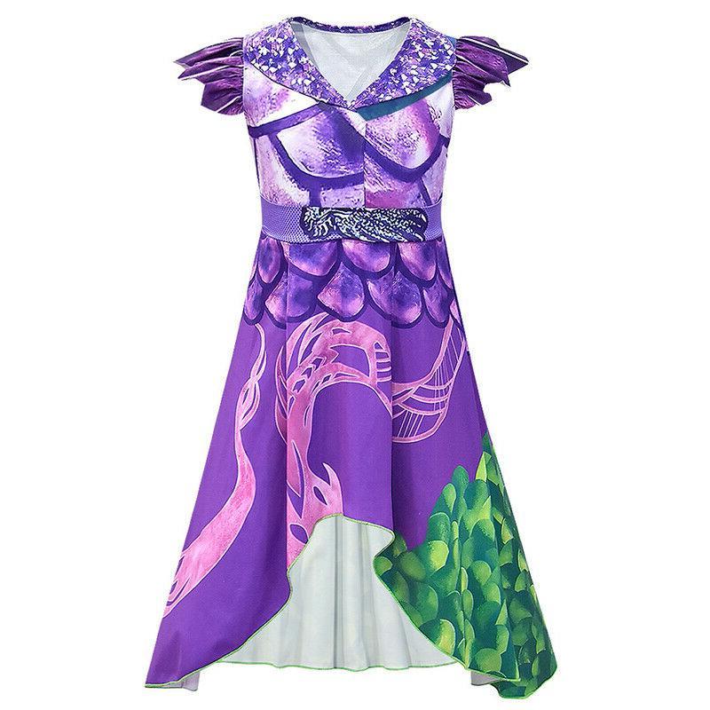 US Descendants Mal Dress Costume Halloween Cosplay