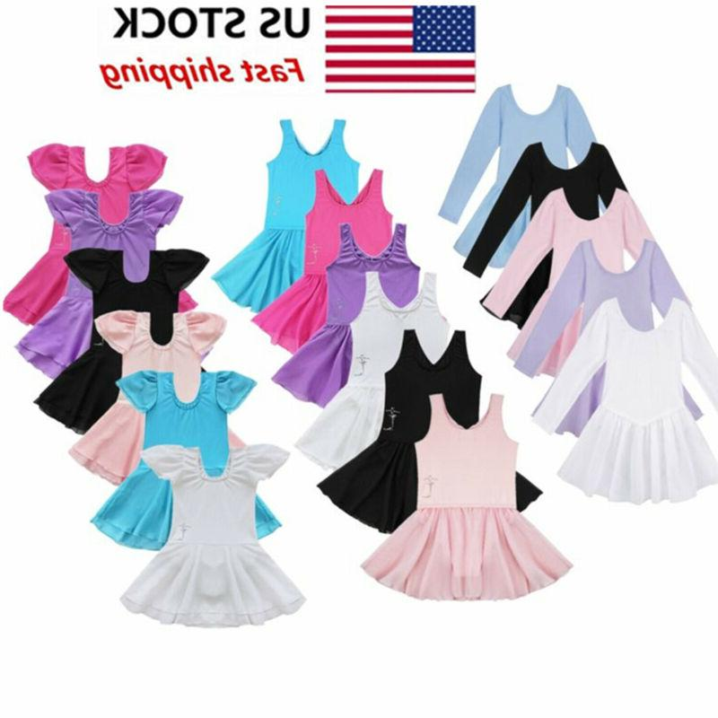 us girls gymnastics ballet dress kids leotard