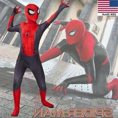 US! Far Home Cosplay Zentai Suit Kids