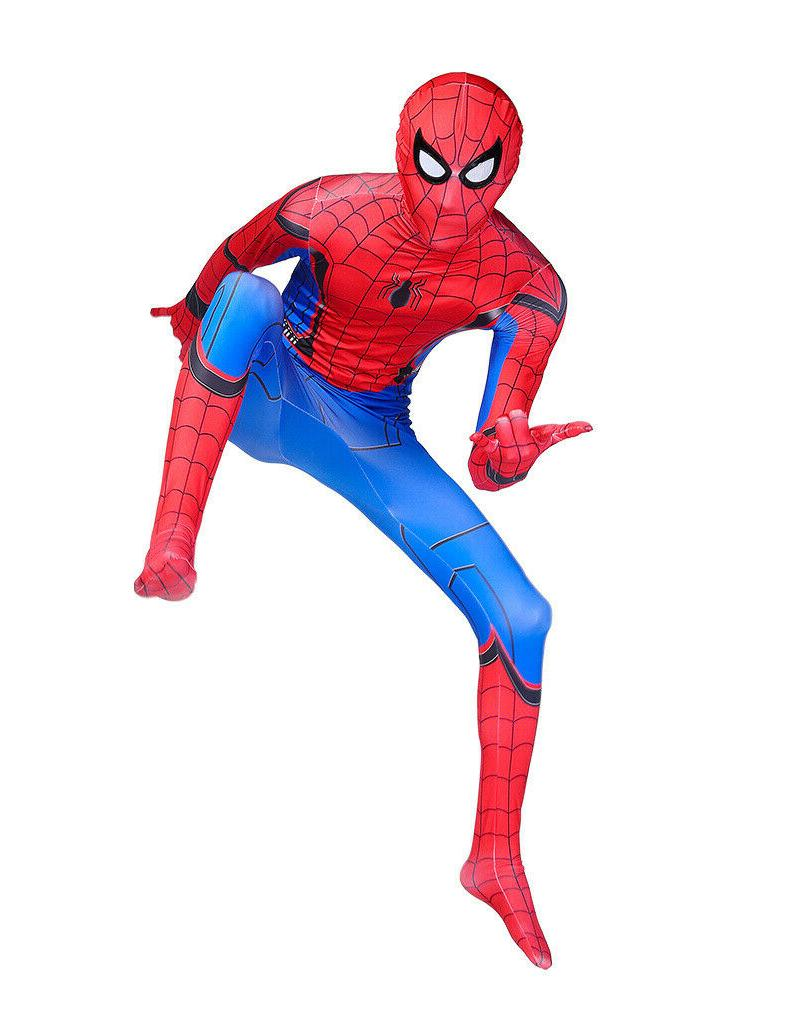 US Spider-Man: Homecoming Costume Unisex Kids Spandex Bodysuit