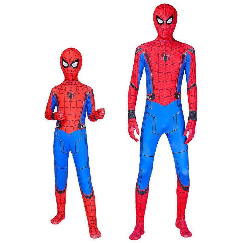 Spider-Man: Homecoming Cosplay Costume Kids Spiderman Zentai