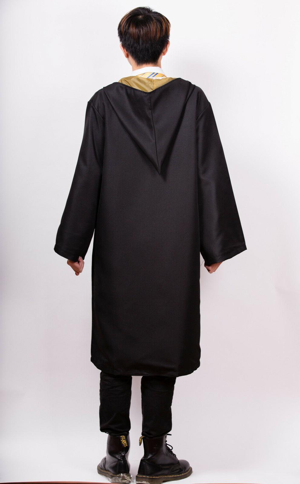 Hufflepuff Adult Robe Tie Set Deathly Costume Cloak Cape Gift