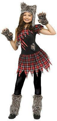 Fun World Wild Wolfie Girl Kids Costume Large 12-14