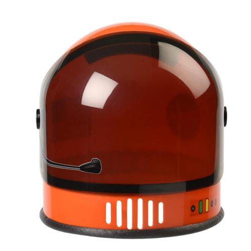 youth astronaut helmet with movable visor orange