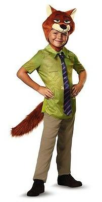 Zootopia Classic Nick Wilde Child Costume, Green, Disguise