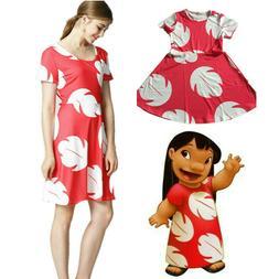 Lilo and Stitch Dress Women Kid Girls Matching Costume US ST