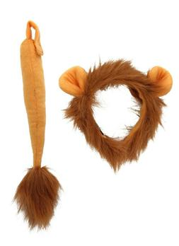 Lion Ears Headband And Tail Costume Adult Child Kids Set By