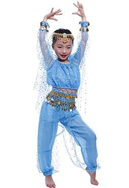 Astage Little Girl`S Belly Dance Costumes,Long Sleeve Highli